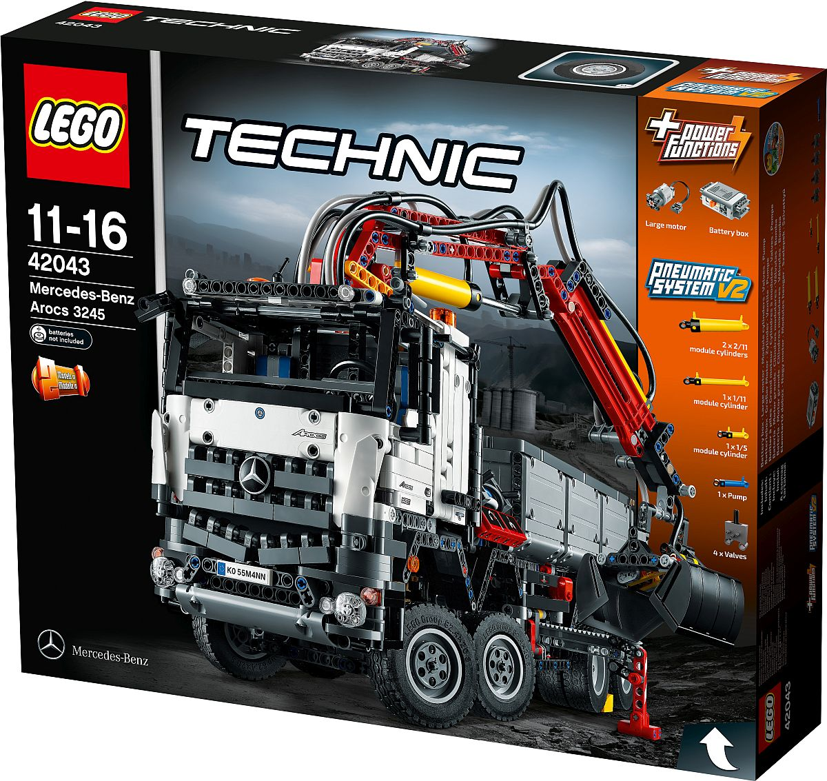 neuer truck von lego technic der mercedes benz arocs 3245. Black Bedroom Furniture Sets. Home Design Ideas