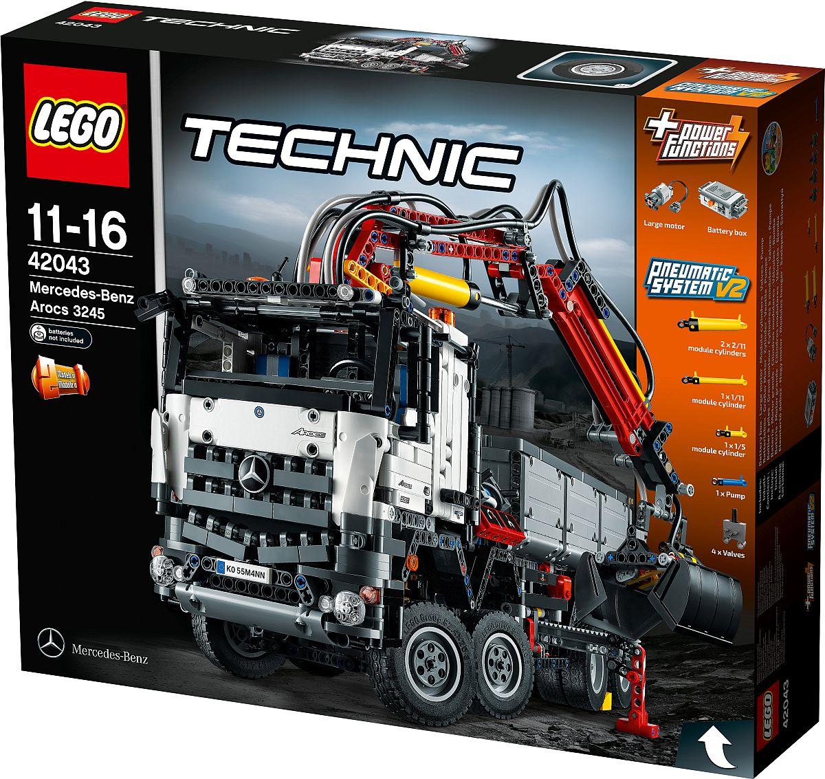 neuer truck von lego technic der mercedes benz arocs 3245. Black Bedroom Furniture Sets. Home Design Ideas