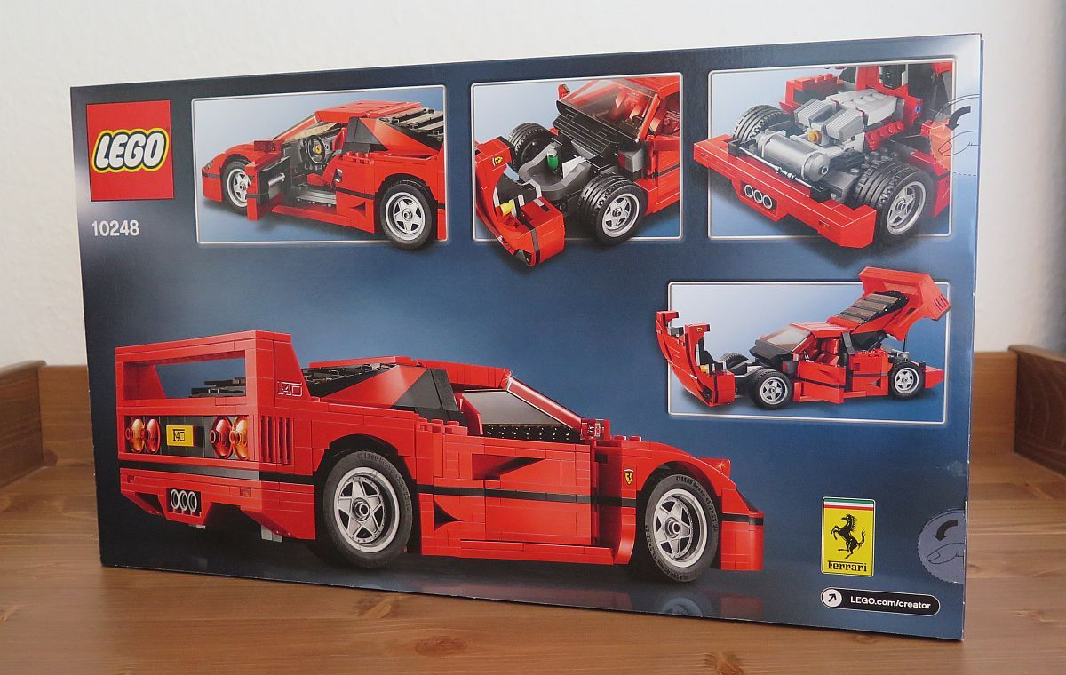 Testbericht Ferrari F40 Von Lego Creator 10248